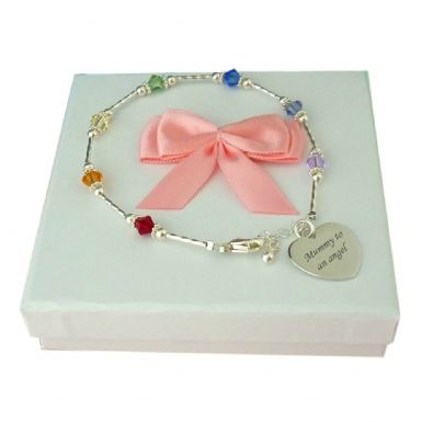 Rainbow Bracelet, Sterling Silver and Swarovski Crystals | Someone Remembered